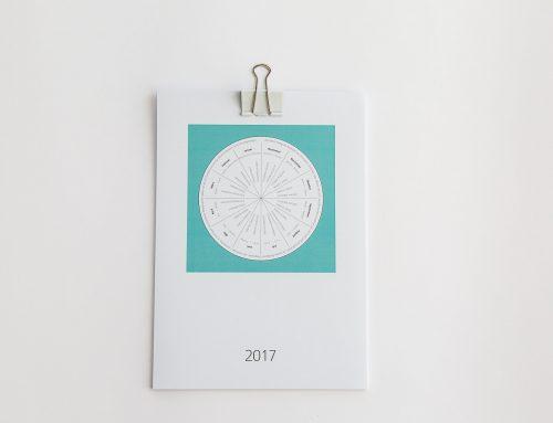 Kalender mit den 12 Tierkreiszeichen