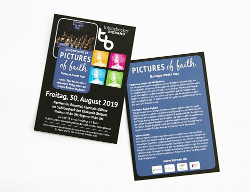 "Gestaltung Flyer und Plakat ""Pictures of faith"""