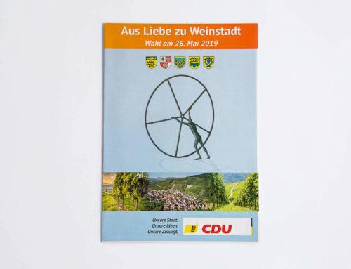 Broschüre für die Gemeinderatswahl 2019
