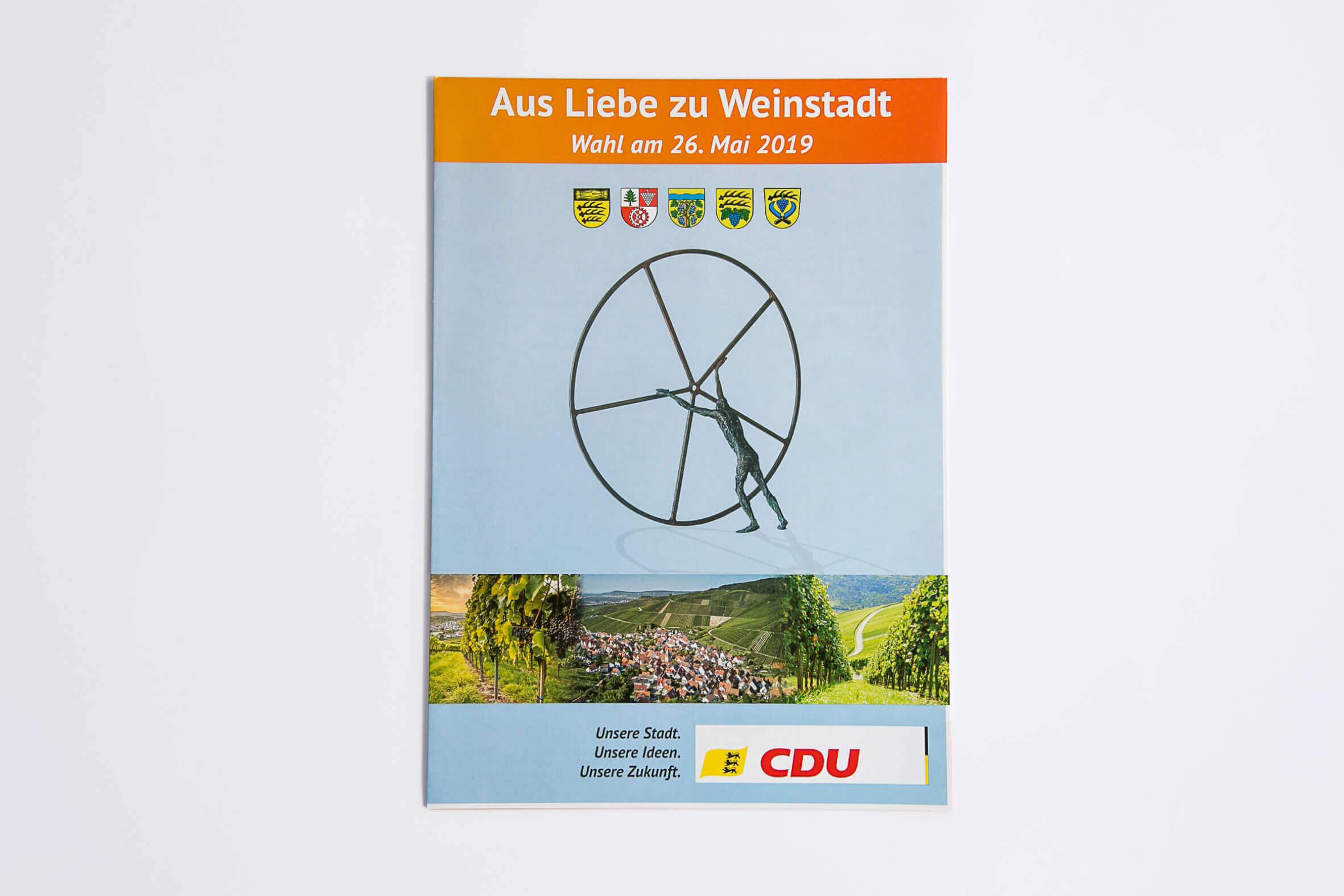Broschüre Gemeinderatswahl 2019 in Weinstadt – Fotografie & Grafikdesign