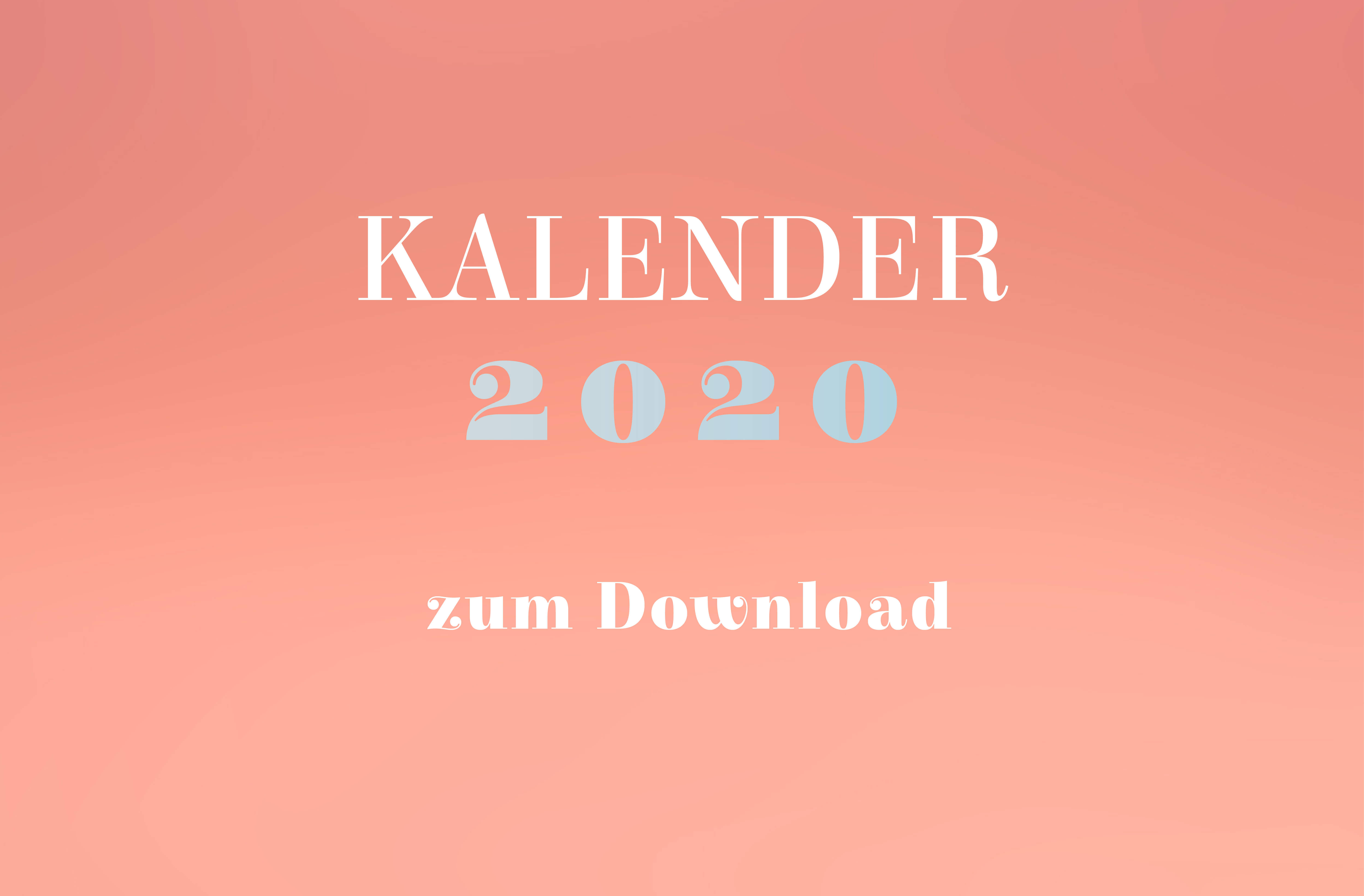Kalender 2020 zum Download
