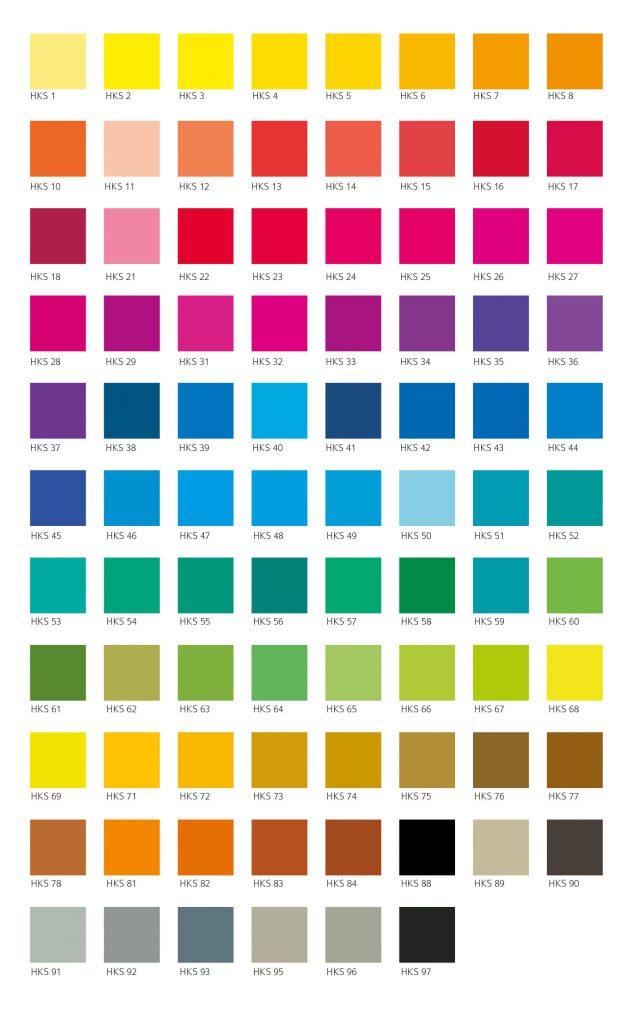 Farbübersicht HKS-Farben