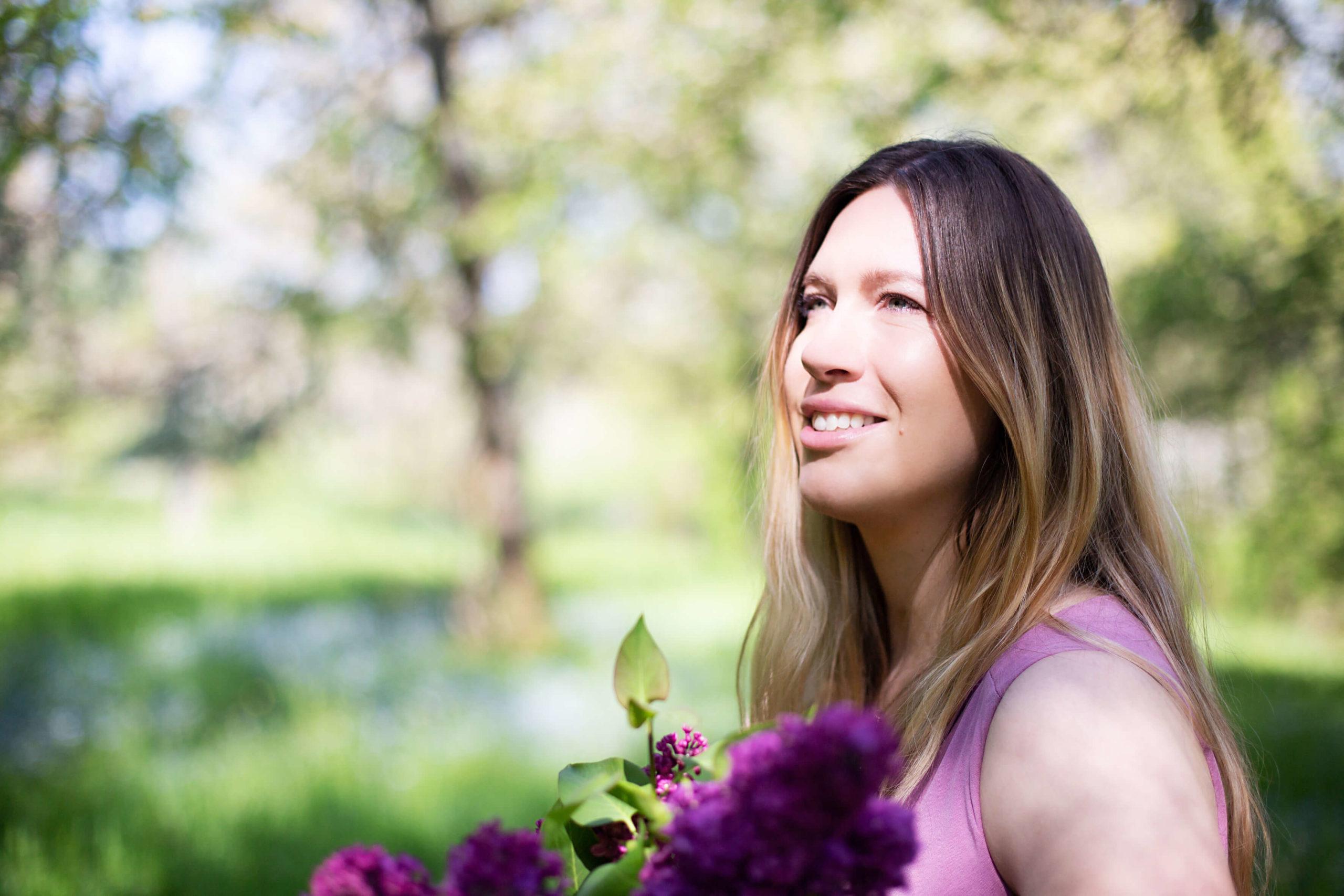 romantisches Portrait im Frühling