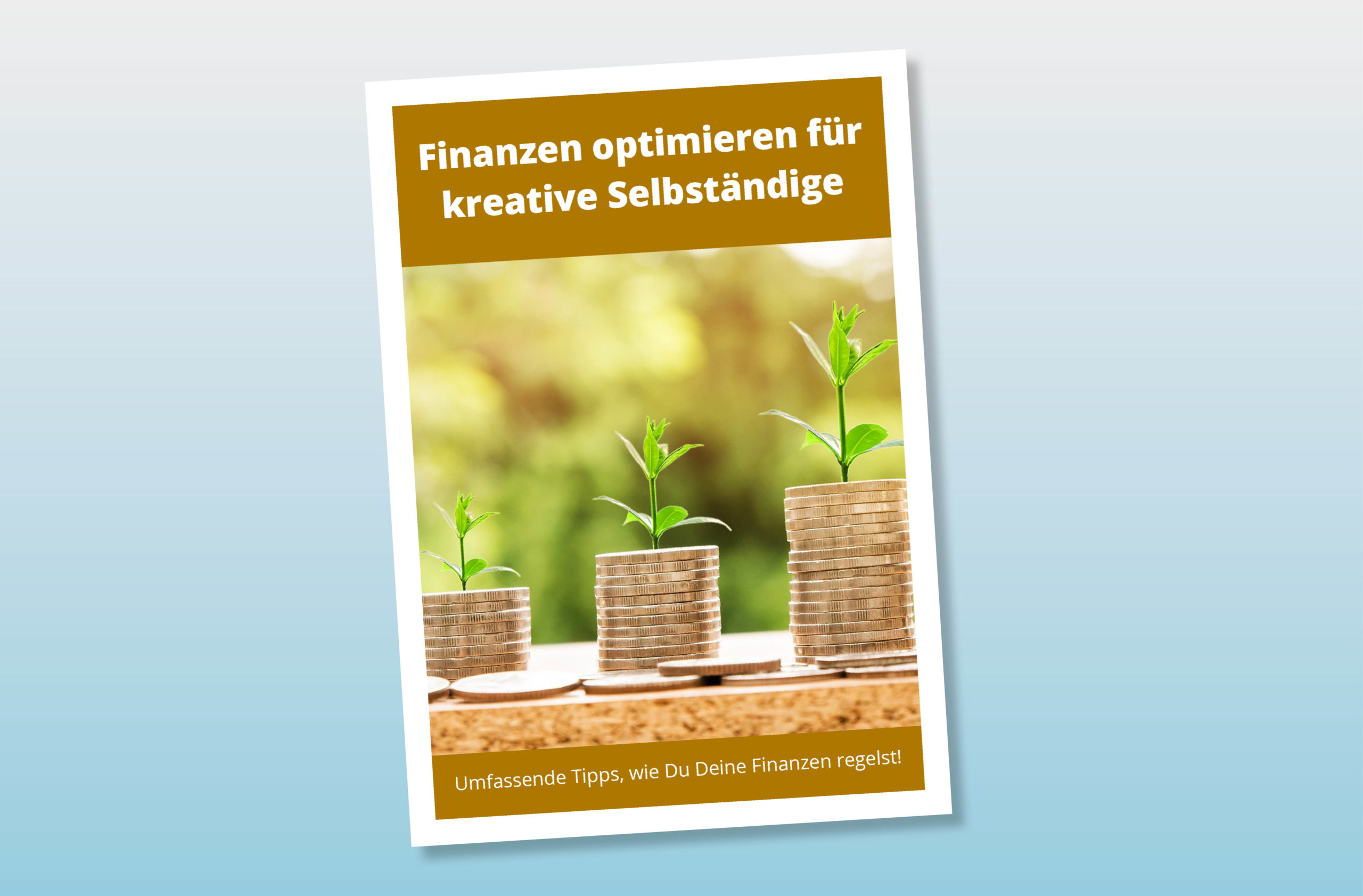 """Titelseite eBook """"Finanzen optimieren für kreative Selbständige"""""""