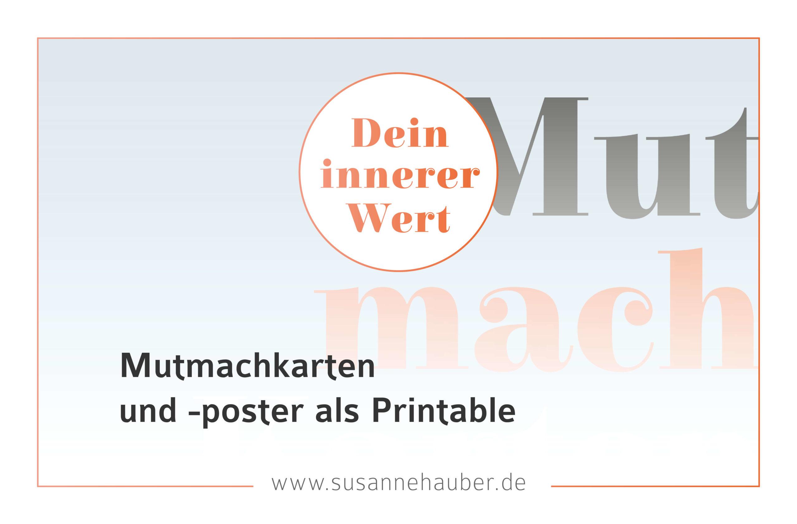 Mutmachkarten und -poster als Printable
